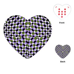 Hypnotic Geometric Pattern Playing Cards (heart)