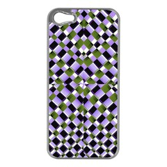 Hypnotic Geometric Pattern Apple Iphone 5 Case (silver)