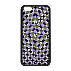 Hypnotic Geometric Pattern Apple Iphone 5c Seamless Case (black)