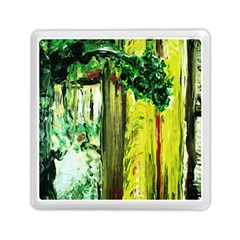 Old Tree And House With An Arch 8 Memory Card Reader (square)  by bestdesignintheworld