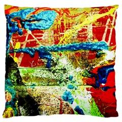 Untitled 1/1 Large Flano Cushion Case (one Side)