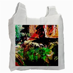 Old Tree And House With An Arch 7 Recycle Bag (two Side)  by bestdesignintheworld