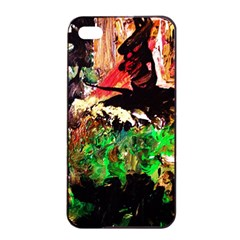 Old Tree And House With An Arch 7 Apple Iphone 4/4s Seamless Case (black) by bestdesignintheworld