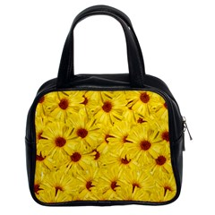 Yellow Flowers Classic Handbags (2 Sides) by girleyjanedesigns