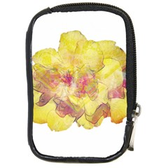Yellow Rose Compact Camera Cases by aumaraspiritart
