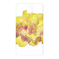 Yellow Rose Samsung Galaxy Note 3 N9005 Hardshell Back Case by aumaraspiritart