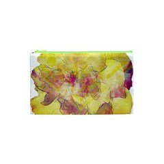 Yellow Rose Cosmetic Bag (xs) by aumaraspiritart