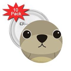 Animal Bear Cartoon Children Kids 2 25  Buttons (10 Pack)