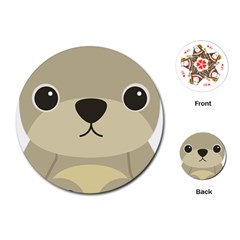 Animal Bear Cartoon Children Kids Playing Cards (round)  by Simbadda