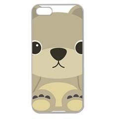Animal Bear Cartoon Children Kids Apple Seamless Iphone 5 Case (clear) by Simbadda