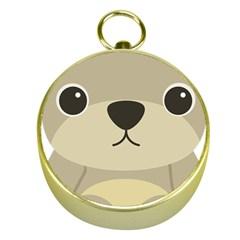 Animal Bear Cartoon Children Kids Gold Compasses by Simbadda