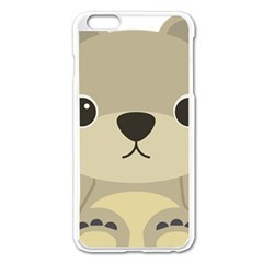 Animal Bear Cartoon Children Kids Apple Iphone 6 Plus/6s Plus Enamel White Case