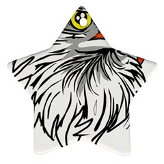 Animal Bird Cartoon Comic Eagle Ornament (star)