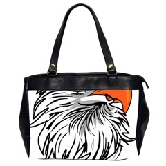 Animal Bird Cartoon Comic Eagle Office Handbags (2 Sides)  by Simbadda