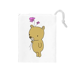 Cute Bear Cartoon Drawstring Pouches (medium)