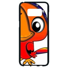 Bird Cartoon Character Parrot Samsung Galaxy S8 Black Seamless Case