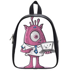 Business Education Logo Monster School Bag (small) by Simbadda