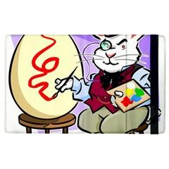 Bunny Easter Artist Spring Cartoon Apple Ipad 3/4 Flip Case