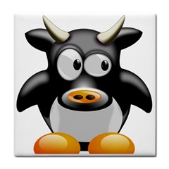 Cow Animal Mammal Cute Tux Tile Coasters