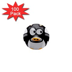 Cow Animal Mammal Cute Tux 1  Mini Buttons (100 Pack)