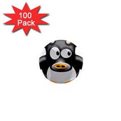 Cow Animal Mammal Cute Tux 1  Mini Magnets (100 Pack)