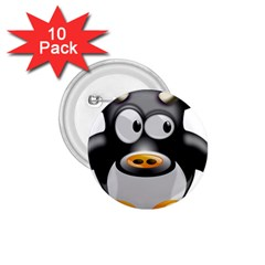 Cow Animal Mammal Cute Tux 1 75  Buttons (10 Pack)
