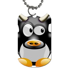 Cow Animal Mammal Cute Tux Dog Tag (two Sides)