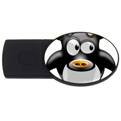 Cow Animal Mammal Cute Tux Usb Flash Drive Oval (2 Gb)