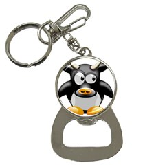 Cow Animal Mammal Cute Tux Button Necklaces