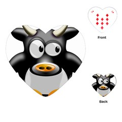 Cow Animal Mammal Cute Tux Playing Cards (heart)