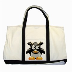 Cow Animal Mammal Cute Tux Two Tone Tote Bag