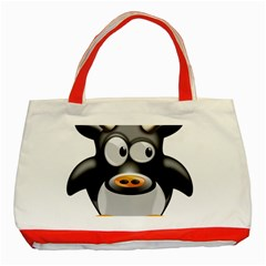 Cow Animal Mammal Cute Tux Classic Tote Bag (red)