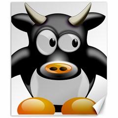 Cow Animal Mammal Cute Tux Canvas 8  X 10