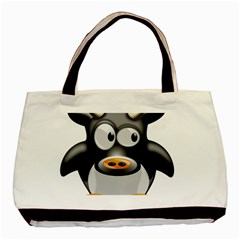 Cow Animal Mammal Cute Tux Basic Tote Bag (two Sides)