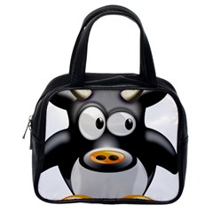 Cow Animal Mammal Cute Tux Classic Handbags (one Side)