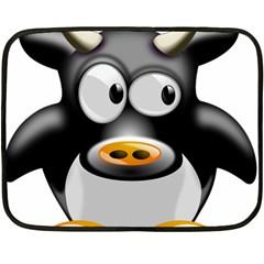 Cow Animal Mammal Cute Tux Fleece Blanket (mini)