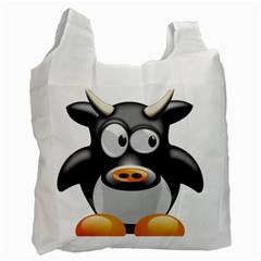 Cow Animal Mammal Cute Tux Recycle Bag (two Side)