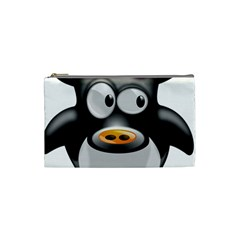 Cow Animal Mammal Cute Tux Cosmetic Bag (small)