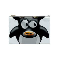 Cow Animal Mammal Cute Tux Cosmetic Bag (medium)