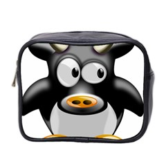 Cow Animal Mammal Cute Tux Mini Toiletries Bag 2 Side