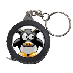 Cow Animal Mammal Cute Tux Measuring Tape