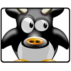 Cow Animal Mammal Cute Tux Fleece Blanket (medium)