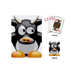 Cow Animal Mammal Cute Tux Playing Cards (mini)