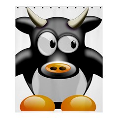 Cow Animal Mammal Cute Tux Shower Curtain 60  X 72  (medium)