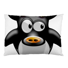 Cow Animal Mammal Cute Tux Pillow Case (two Sides)