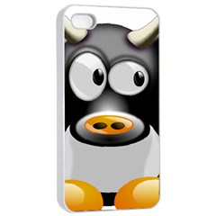 Cow Animal Mammal Cute Tux Apple Iphone 4/4s Seamless Case (white)