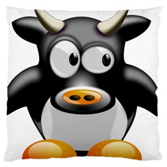 Cow Animal Mammal Cute Tux Large Cushion Case (two Sides)