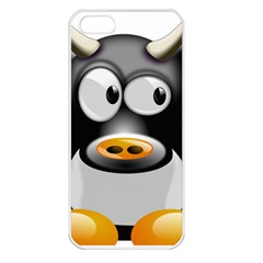 Cow Animal Mammal Cute Tux Apple Iphone 5 Seamless Case (white)