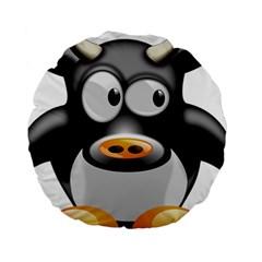 Cow Animal Mammal Cute Tux Standard 15  Premium Round Cushions