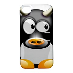 Cow Animal Mammal Cute Tux Apple Iphone 4/4s Hardshell Case With Stand